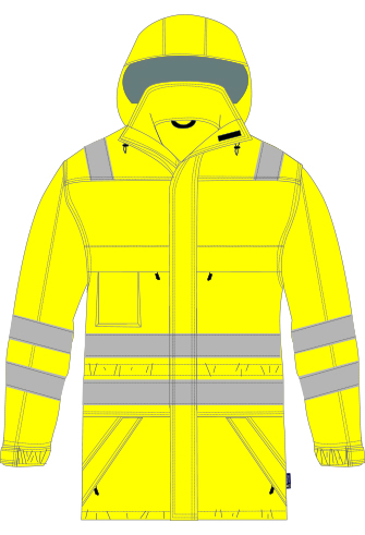 FR, Arc, Anti-Static, Waterproof, High Visibility, Lined Rain Jacket, JRM005
